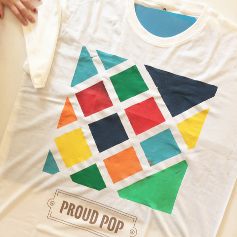TWO 'Proud Dad' and / or 'Proud Pop' T-Shirt (adult size) + Fabric Paints Pack