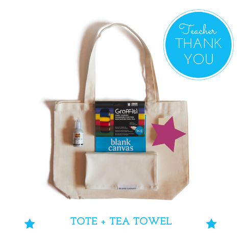 Tote + FREE Tea Towel Teacher Gift Pack
