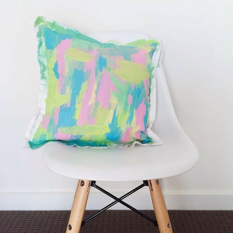Decorative Cushion (with inner) + Fabric Paints Gift Pack PLUS FREE Extra Blank