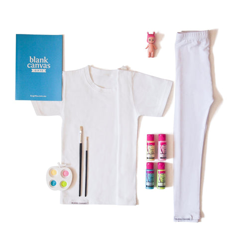 T-Shirt + Leggings + Fabric Paint Combo Pack