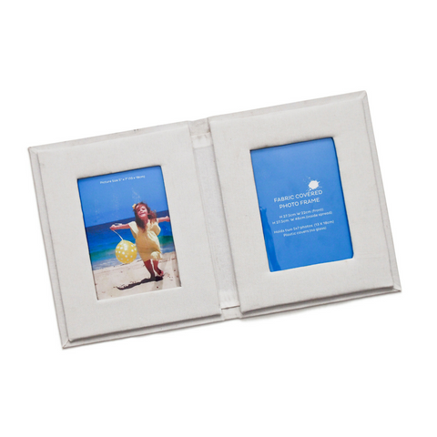 Fabric Covered Photo Book & Frame with Fabric Paints