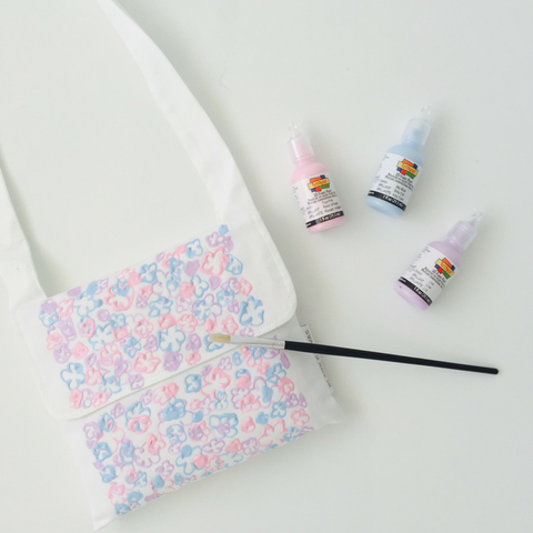 Girls Handbag & Fabric Paints Gift Pack - NOW WITH FREE EXTRA BLANK