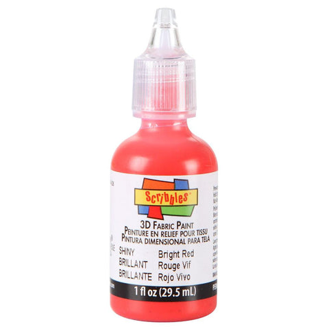 Scribbles® 3D Dimensional Fabric Paint - Shiny Bright Red