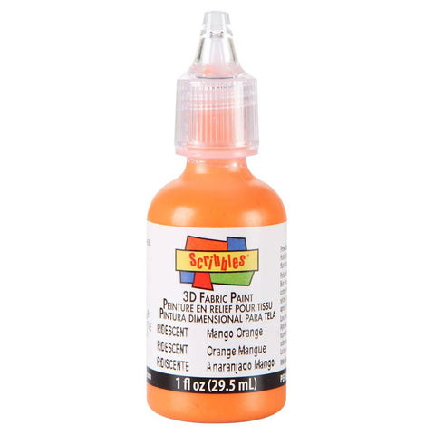 Scribbles® 3D Dimensional Fabric Paint - Iridescent Mango Orange