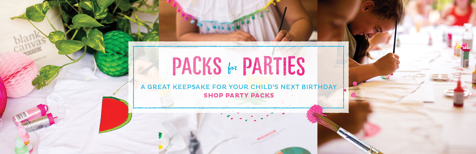 Blank Canvas Party Packs
