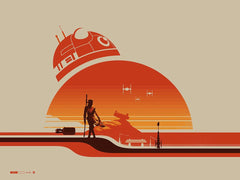 """Rey (Jakku)"" by Justin Van Genderen. 24″ x 18″ Screenprint"