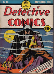 Original Cover: Detective Comics #31 Released in 1939