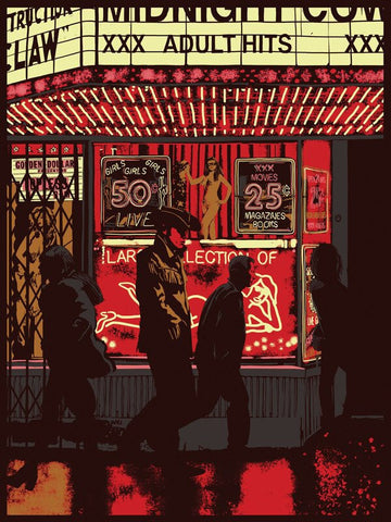 Midnight Cowboy by Raid71 18x24