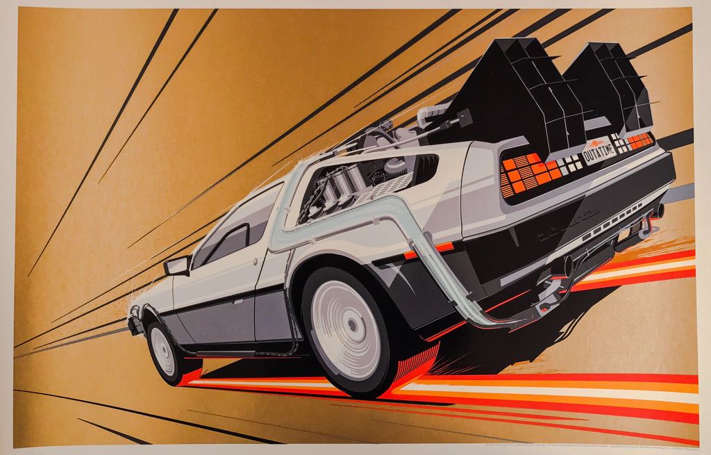 Back to the Future 2 by Craig Drake 1/1 Gold Variant Movie Poster