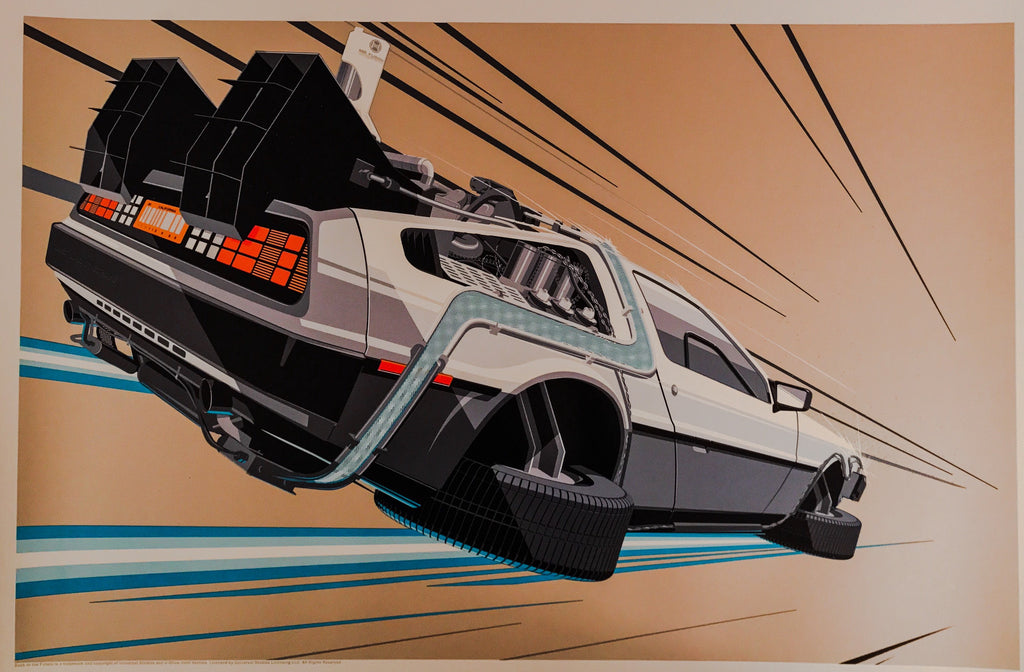 Back to the Future 2 by Craig Drake 1/1 Beige Variant Movie Poster