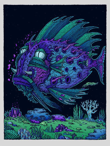 Passenger Fish by David Welker Screen Print 9x12