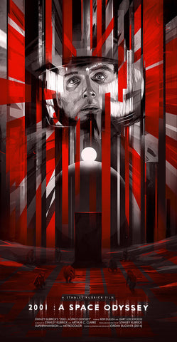 2001: A Space Odyssey by Jordan Buckner 12x24 Screen Print