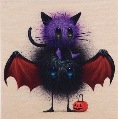 Seeker Friends #7 The Candy Eaters by Jeff Soto Wood Print