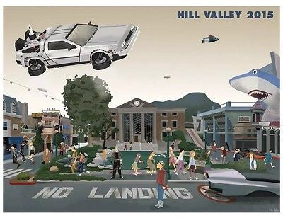 Hill Valley by Max Dalton 24x18