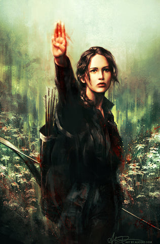 The Hunger Games by Alice X. Xhang Movie Poster Screen Print - YaDiGGiT Posters