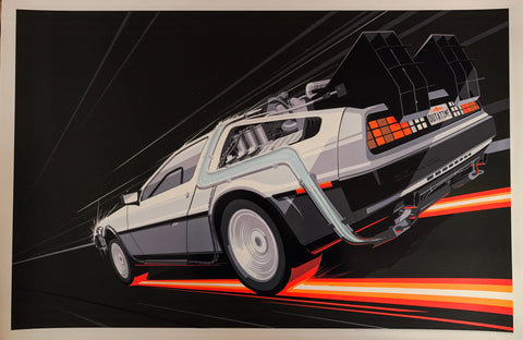 Back to the Future 2 by Craig Drake 1/1 Black Variant Movie Poster