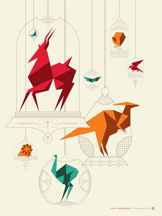 Pulp Menagerie (Show Poster) By Tom Whalen MONDO