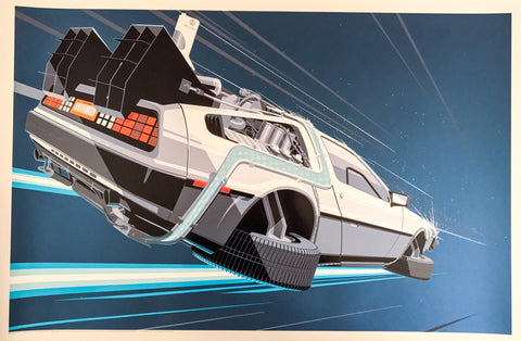 Back to the Future 2 by Craig Drake 1/1 Blue Variant Movie Poster