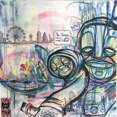 The Journey by Real1 Graffiti Art Original Art Acrylic and Oil on Canvas