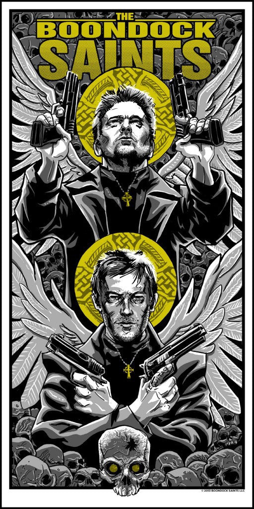 Boondock Saints by Timothy Doyle Movie Poster 12x24