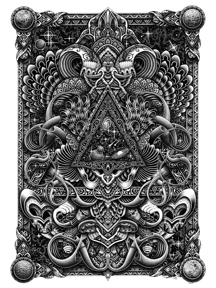 Card Back by Tyler Hays Fine Art Print - YaDiGGiT Posters - 1