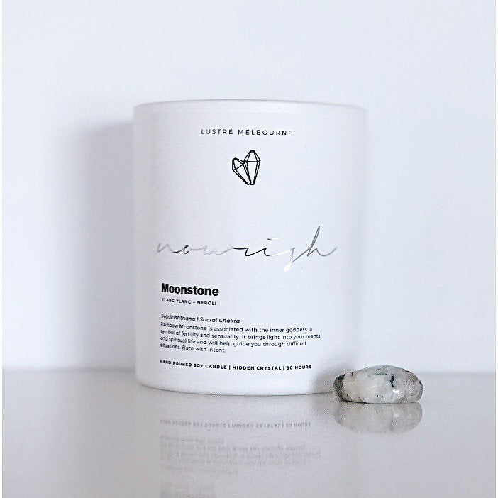 Nourish | Moonstone Intention Candle | Ylang Ylang + Neroli