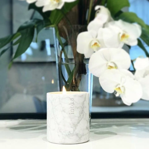 Inoko Marble Candle Vessel | Large