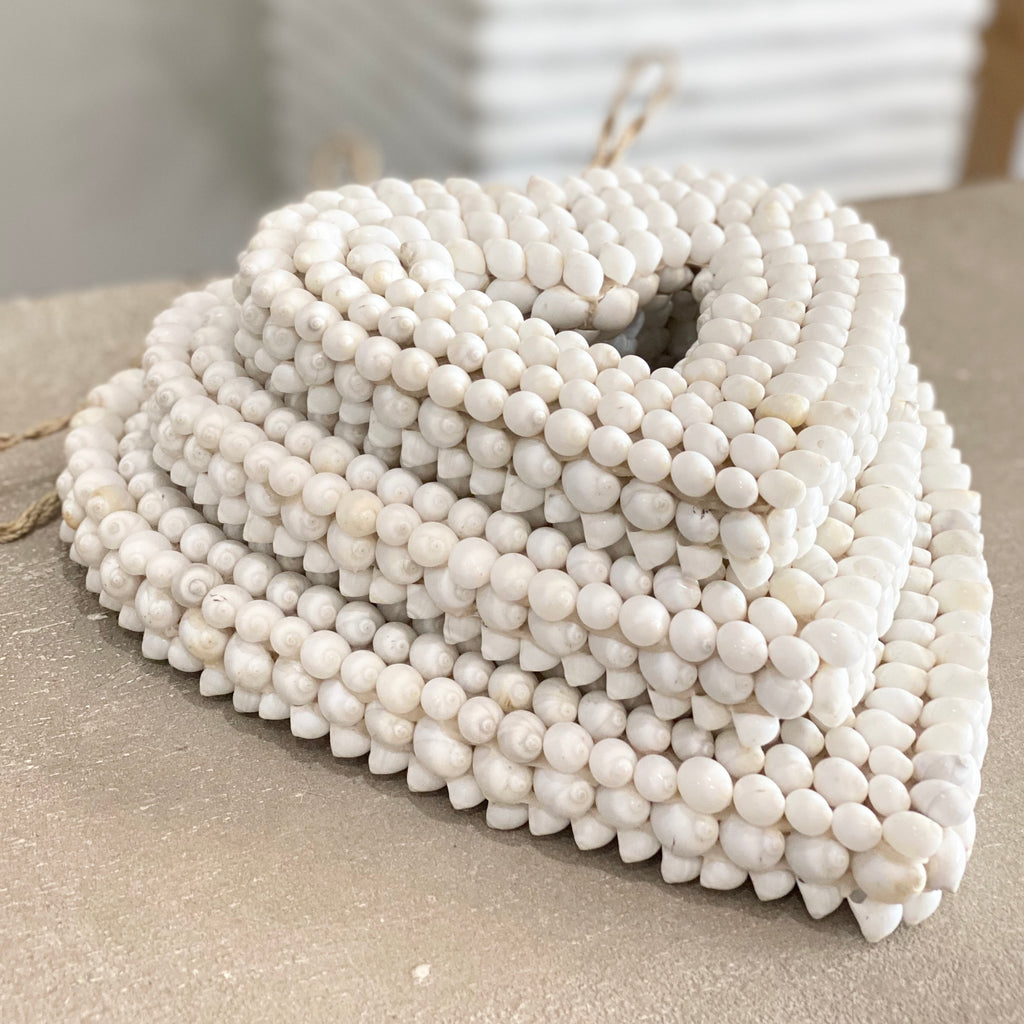 Kerang Heart | White Shell Heart