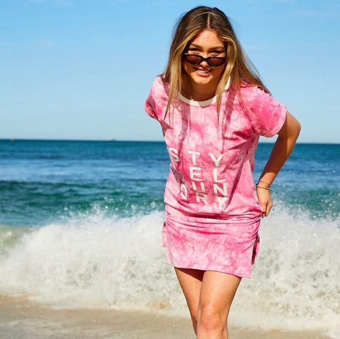 Tie Dye Beach Dress | Pink