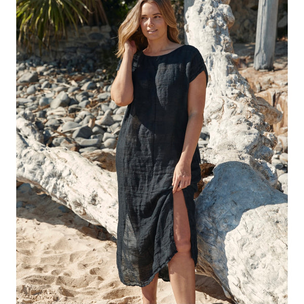 Aida Raso Positano Dress Maxi | Nero