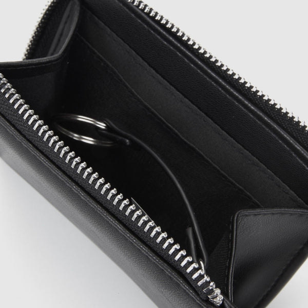 The Xavier Small Zip Around Wallet | Black