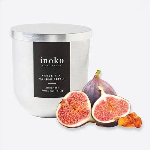 Inoko Candle Refill - Amber & Burnt Fig