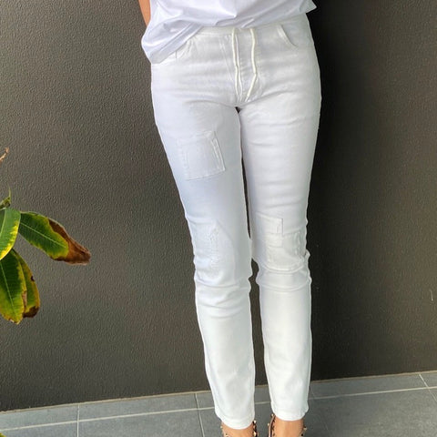 Super Stretch Skinny Jeans | White