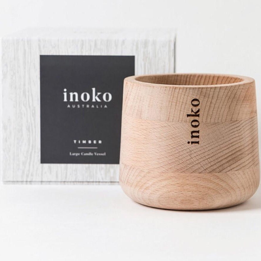 Inoko Timber Candle Vessel  | Large