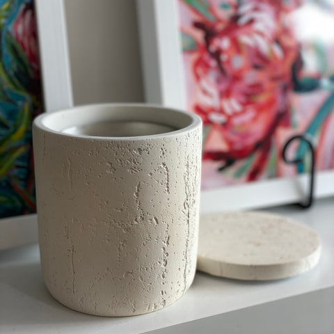 Inoko Concrete Candle Vessel | Large