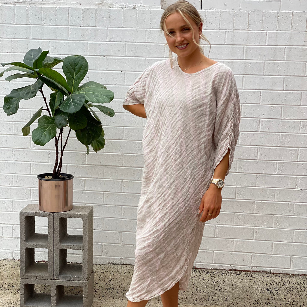 Kate Bias Kaftan Dress | Raso Aida Bianco