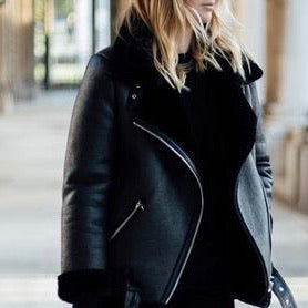 Faux Shearling Jacket | Black