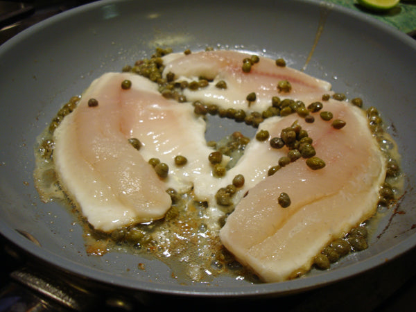 Fish with capers