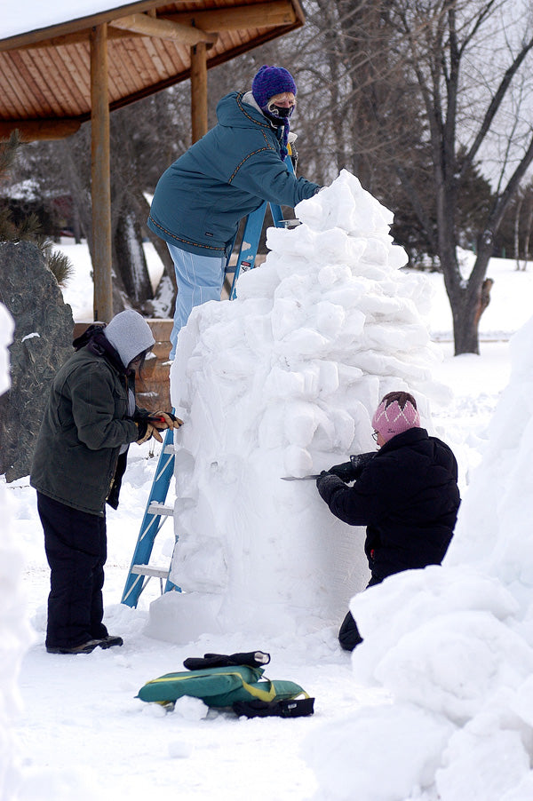 Snow carving