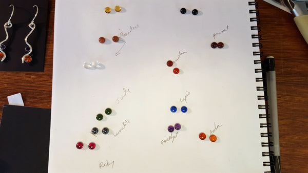 Gems for earrings