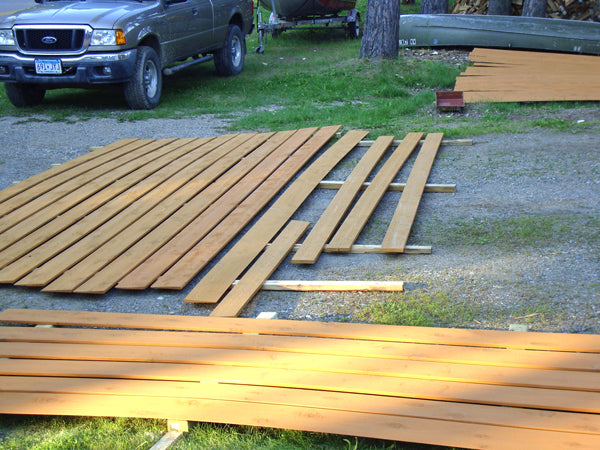 Staining siding