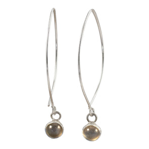 Black Moonstone Earrings