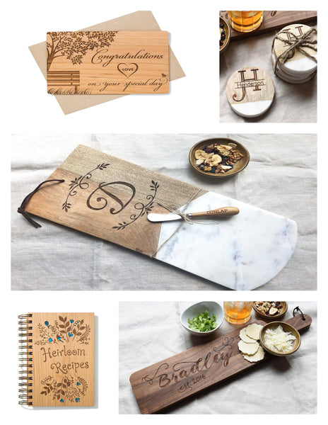 Personalized Rustic Wedding Gifts for Bride and Groom – Indigo Ember