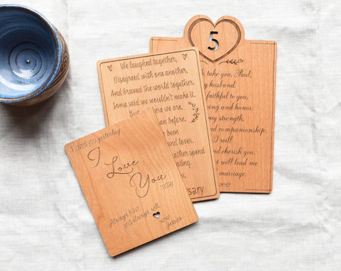 Wood Greeting Cards by Indigo Ember