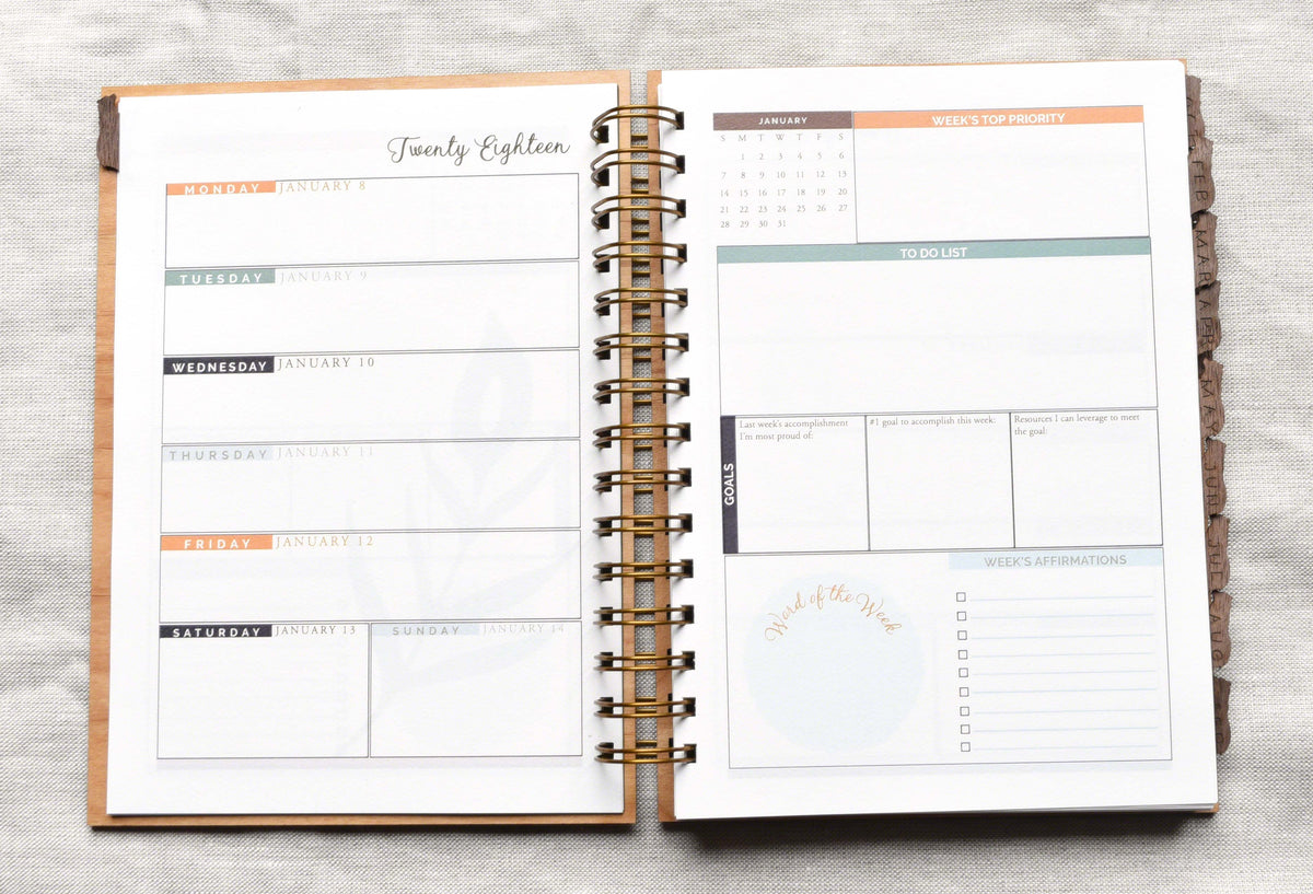 Unique Weekly Planner 2018