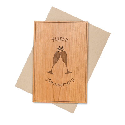 5th Year Wedding Anniversary Wood Card