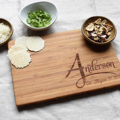 Personalized Family Last Name Bamboo Cutting Board