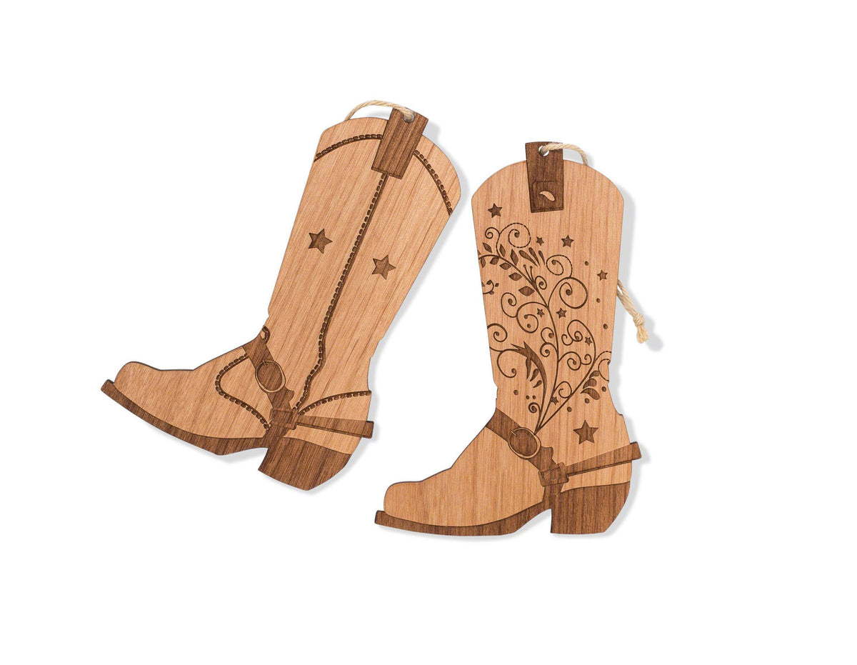 Cowboy and Cowgirl Boots Christmas Ornament Set – Indigo Ember