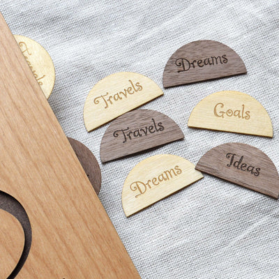 Personalized Wooden Page Dividers