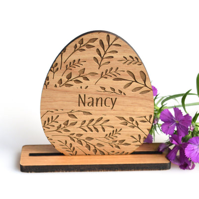 Personalized Floral Easter Place Cards